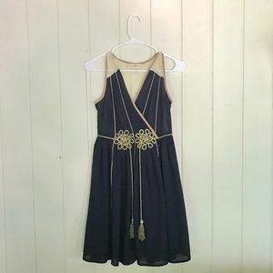 Altar'd State navy dress with rope tassels